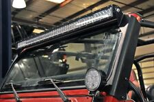 Jeep TJ 50-inch Straight LED Light Bar Upper Windscreen Mounts (97-06 TJ)  70503