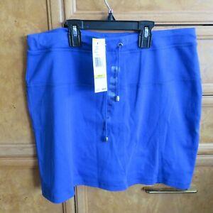 Women's Jones New York sport skort/skirt size M Medium Seaport Blue NWT $54