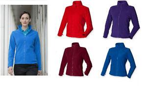Ladies Henbury Full Zip Womens Micro Fleece Anti-Pill Jacket Top H851