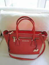 NWT Authentic Michael Kors Large Sophie Leather Satchel- Mandarin/$398