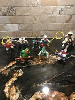"Vintage F-P Inc 90's 2000's 2.5"" Figures Fisher Price Hasbro Lot of 9 - Cowboys+"