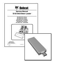 Bobcat S130 Skid Steer Loader Workshop Service Manual USB Stick + Download