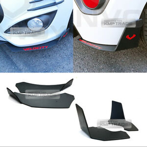 Canard Front/Rear Cup wing Body Kit Matte Black 4P for HYUNDAI 2011-17 Veloster