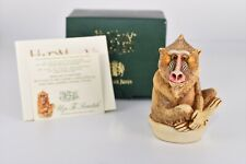 "New ListingHarmony Kingdom ""Up To Scratch"" Baboon Box Figurine Tjba Nib Nos w/Lion Cub"