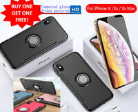 Free temper screen protector Case for iPhoneX XS MAX XR  iPhone6,7,8 plus Cover
