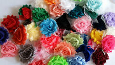 "2.5""shabby flower lot chiffon trim mix 50 pcs SOLID,wholesale shabby rose flower"