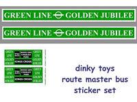 DINKY TOYS ROUTEMASTER BUS STICKER SET GREENLINE