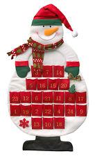 Adventskalender Schneemann zum selber befüllen Filz 98 cm hoch Kalender