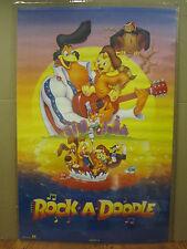 Vintage 1992 Rock-A-Doodle poster children movie Goldcrest   4226
