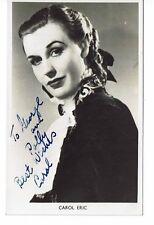 Carol Eric English Singer  BBC Hand Signed photograph 5 X 3