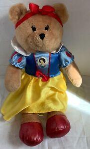 "Disney Animal Alley Snow White Bear Plush Rare Toys R Us Stuffed Teddy 18"""