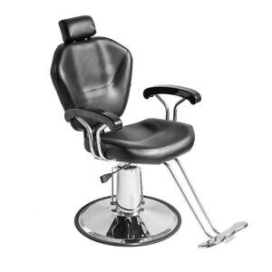 Reclining Barber Chair Salon Hairdressing Threading Spa Beauty Shaving Haircut