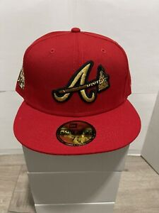 Sportsworld Exc Atlanta Braves Red Metallic Gold 2021 ASG Banned Patch 7 5/8