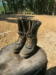 White's Smokejumper 10'' Boots with Fresh Rebuild and Extra Leather laces