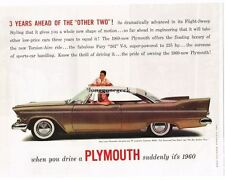 1957 Plymouth Belvedere Brown 2-door Coupe Vtg Print Ad
