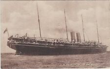 "Royal Navy Postcard. H.M. ""Transport Himalaya""  Armed Merchant Cruiser. c 1914"