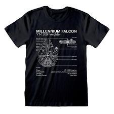 Official Star Wars Millennium Falcon T Shirt Blueprint Schematic NEW S M L XLXXL