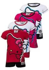 Hello Kitty Girls' 100% Cotton Pyjama Set Nightwear (2-16 Years)