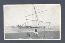 Vintage OCEAN PARK WASHINGTON CLAM DIG BEACH BOY GIRL BOAT SUNKEN SHIP Photo