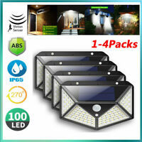 1/4X Outdoor LED Solar Powered PIR Motion Sensor Wall Light Garden Security Lamp