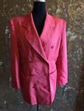 Damen Business Blazer-Jacke mit Rock Gr.M/40 Zweireiher Kostüm Zweiteiler Pink