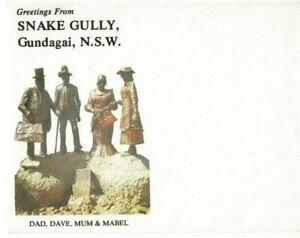 Stamp Australia Snake Gully Gundagai NSW tourism cover unused