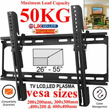 TV WALL BRACKET MOUNT SLIM FOR 26 30 32 40 42 50 55 INCH FLAT 3D LCD LED PLASMA