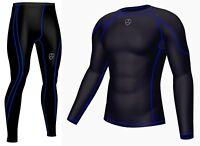 Men's Compression Armour Base layer Top Skin Fit & Leggings Running Tights Pants