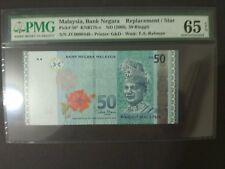ZC 0000448 Low Number RM50 Zeti PMG 65 EPQ Malaysia