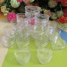 Plastic 10Pcs  Empty Cosmetic Lip Balm Cream Pot Jar Box Container Heart Shape