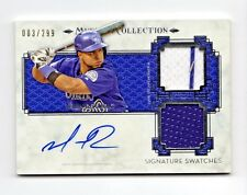 WILIN ROSARIO MLB 2014 MUSEUM COLLECTION SIGNATURE SWATCHES DUAL RELIC (ROCKIES)