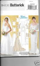 B4131 MISSES FORMAL/WEDDING DRESS SEWING PATTERN SIZE 12-16  BUTTERICK 4131