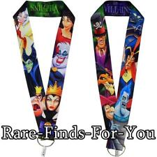 "Authentic Disney Theme Park ""Villains"" Reversible Wide Trading Pin Lanyard (NEW)"