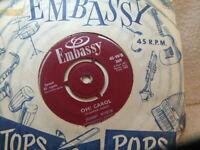 "Johnny Worth – Oh Carol 1959 7"" Embassy WB 369 neil sedaka copy cover"