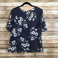 LC Lauren Conrad Floral Short Sleeve Floral Shirt