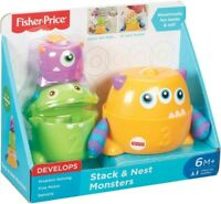 Fisher Price Stack & Nest Monsters Baby Toddler Toy Play Set BNIB 6 Months+ #NG