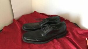 JF J.Ferrar DERBY Men's BLACK DRESS SHOES TIE SZ 8.5 VINTAGE MEN'S SHOES FREE SP
