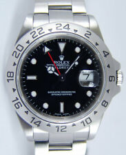 ROLEX - 40mm Stainless Steel Explorer II Black Index No Holes 16570 - SANT BLANC