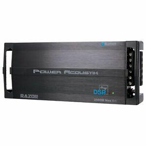 Power Acoustik RZ5-2500DSP Razor Series 2,500W Max 5-Channel Class D Amp