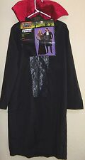mens one size MIDNIGHT VAMPIRE HALLOWEEN COSTUME COAT JABOT NEW NWT FANCY! 39.99
