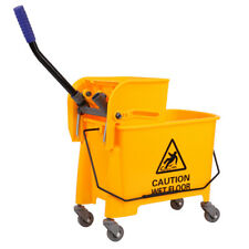 20L Mini Mop Bucket with Wringer Combo Commercial Rolling Cleaning Cart
