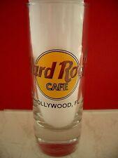 HRC Hard Rock Cafe Hollywood Fl Classic Logo Black Letter Shot Glass Schnapsglas