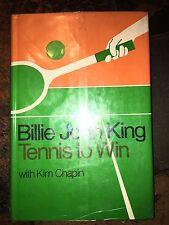 TENNIS TO WIN - BILLIE JEAN KING HARDBACK SIGNED FIRST EDITION JSA COA