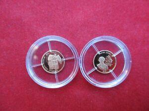 Gold Medaillen 2 Stück Gold Raritäten des 21. Jahrhundert Gold Au PP proof 1 Gr