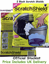 Scratch Shield Universal Adjustable Black Car Wash Bucket Filters x 2 Grit Guard