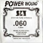 .060 Gauge, SIT Single Power Wound Bass Guitar String , Made in USA for sale