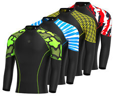 Men's Compression Base Layer Full Sleeve Top Long Sleeve Skin Fit Gym  Shirt
