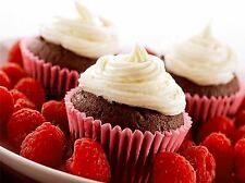 MODERN PHOTOGRAPHY FOOD CUPCAKE ICING RASPBERRY LARGE POSTER ART PRINT BB3159A