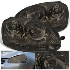 For 05-10 VW GTI Jetta Rabbit Headlight Chrome Housing Smoke Lens Lamp MK5 MKV