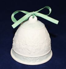 Lladro 1992 Porcelain Christmas Bell with Green Ribbon - Daisa 1991, Hallmarked